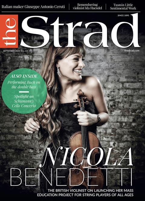 Nicola Benedetti: The violinist's Benedetti Sessions have proved stunningly popular for teacher and students alike | Septmber 2020 issue | The Strad